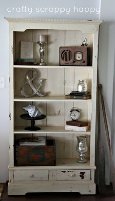 Check out these 5 Shelf Decorating Tips from Crafty Scrappy Happy!