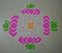 Lotus Rangoli!!  I have used 15-1 dots to draw this Rangoli.