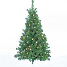 Kurt Adler Pre-Lit Norway Pine Wall Tree, 48-Inch ** See this awesome image  : Garden Christmas Decorations