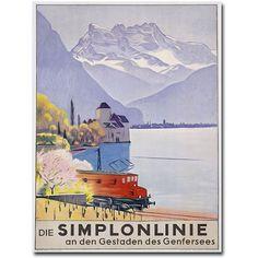 Trademark Art Die Simplonline Canvas Wall Art by Emil Cardinaux, Size: 24 x 32, Multicolor