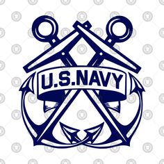 #USNAVY #NAVY #USNAVYVETERAN #NAVYVETERAN #SAILOR Check out this awesome 'U.S.+Navy+-+Crossed+Anchors+in+Blue' design on @TeePublic!