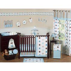 Sweet Jojo Designs Mod Dots Blue Collection 11-Piece Baby Crib Bedding Set $199.99 - BabysRUs.com