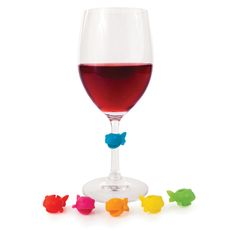 Guppy wine charms!