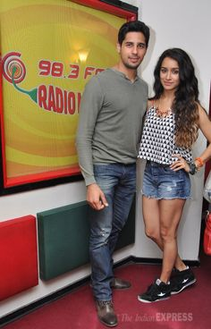 Sidharth Malhotra and Shraddha Kapoor promoting their film, 'Ek Villain' at Radio Mirchi. #Style #Bollywood #Fashion #Beauty