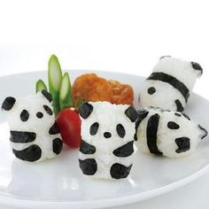 Japanese Bento Accessories Mini Rice Ball Mold Mould with Nori Punch Panda Shape | eBay