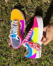 Slip On Tennis Shoes Outfits Vans Classics Sneakers Mode, Cute Sneakers, Sneakers Fashion, Fashion Shoes, Shoes Sneakers, Custom Vans Shoes, Cute Vans, Nike Wmns, Nike Sb