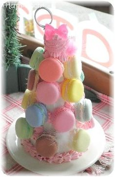 Macaron Tower, Macarons, Cake, Desserts, Food, Tailgate Desserts, Deserts, Kuchen, Essen