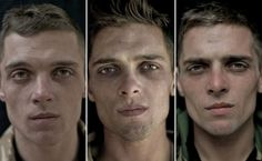 Photographer Lalage Snow's powerful series of triptychs titled We Are The Not Dead depict the faces of British servicemen before, during and after (left to right) their deployment to Afghanistan, spanning a period of seven months. The images are as striking as they are revealing, highlighting not only the physical transformations but the emotional ones, as well.