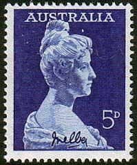 Australia 1959 SG 340 Dame Nellie Melba Fine Mint SG 340 Scott 341 Other Australian Stamps here