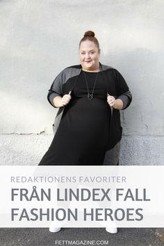 Fett-redaktionen provar och fotar sina favoriter från Lindex höstkollektion Fall Fashion Heroes som inkluderar större storlekar.