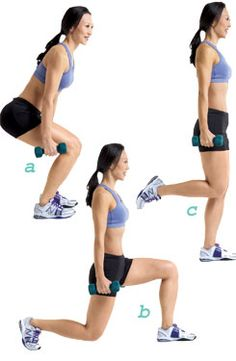 15 min. workout to fit into skinny jeans -- Do these seven moves twice in a row to slim down your hips, thighs, and backside.