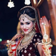 Bridal Eye Makeup, Indian Bridal Makeup, Asian Bridal, Bride Makeup, Groom Wedding Dress, Indian Wedding Bride, Desi Wedding, Marriage Girl, Indian Bridal Photos