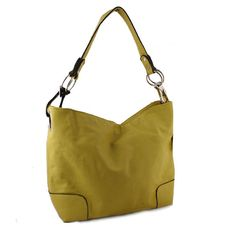 """Diva Girl Party - Elegant Mustard Complete with Unique Handle. Exterior Zipper Pocket. Interior Zipper Compartment Acting as Divider with Cell Phone Pocket on One Side and Zipper Pocket on Opposite.  L11"""" W14"""" D5"""""""