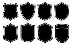 Shape Design, Logo Design, Badges, Logo Outline, Banner Shapes, Clothing Logo, Blank Clothing, Badge Template, Soccer Logo