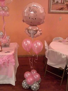 More and more arts and crafts: Beautiful decorations with balloons for the baby shower - Home Page Baby Shower Balloons, Baby Shower Fun, Baby Shower Gender Reveal, Girl Shower, Baby Shower Favors, Shower Party, Baby Shower Parties, Baby Shower Themes, Baby Shower Gifts