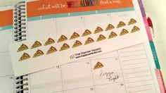 Pizza Label Stickers for your Erin Condren by ThePlannerFanatic
