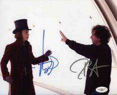 Charlie and the Chocolate Factory Cast Depp & Burton Signed 8x10 Photo Certified Authentic JSA
