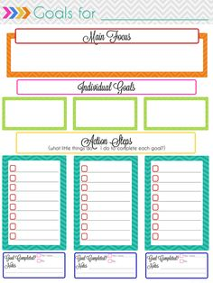 This Site Has So Many Printable Planner Pages Is A Goal Setting Page