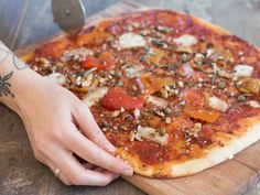 Pizza Au Levain, Pepperoni, Adeline, Vegetable Pizza, Homemade, Vegetables, Pains, Recipes, Food