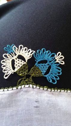 yazma kenarı örneği Needle Lace, Needle And Thread, Point Lace, Diy Schmuck, Karen Millen, Needlepoint, Tatting, Knots, Needlework