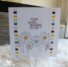 Magical Scrapworld: Sending well wishes your way, cards, catalogue 2018-2019, dandelion wishes, stampin' blends, Stampin' Up!