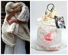 DIY Knit Kit  Big Loop Merino Chunky Knit Blanket or by loopymango, $242.00  Wouldn't this be fun as a wrap?