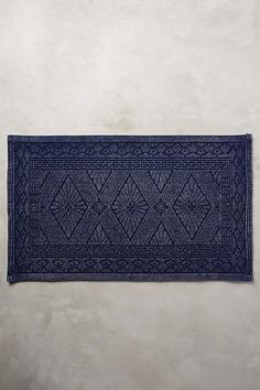 Misona Bath Mat by Anthropologie in Blue, A timeless diamond motif rendered in inviting,. of-the-moment. shades makes this mat a must-have pairing for your shower or bath. Bathroom Rugs, Bathroom Colors, Bath Rugs, Small Bathroom, Bathroom Ideas, Bathroom Designs, Bathroom Mirrors, Navy Bathroom Decor, Bathroom Showers