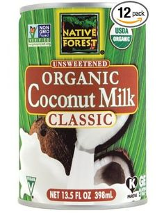 Native Forest Organic Classic Coconut Milk, Cans (Pack of Buying this in bulk cuts the cost. I like Native Forest because they package in a BPA Free can Organic Coconut Milk, Canned Coconut Milk, Coconut Oil, Coconut Cream Frosting, Coconut Whipped Cream, Recipes With Whipping Cream, Cream Recipes, Native Forest Coconut Milk, Health