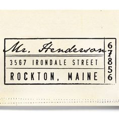 Custom Address Stamp - Wood Handle - organic lines - wedding personal housewarming gift - 1205
