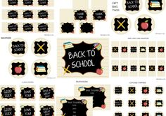 Free Back to School Printables + Extras #freeprintables #backtoschool