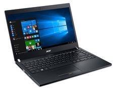 "Acer Travelmate 14"" Notebook Core i7-6500U 8GB 256GB SSD Win 10 Pro (NX.VCKAA.003). 14"" LED full high Definition screen with 1920 x 1080 resolution. 6th Gen Intel Core i7-6500U 2.5GHz (up to 3.1GHz with Intel Turbo boost) 4MB smart cache. 8GB RAM, 256GB SSD, SD card reader, Bluetooth, front webcam and fingerprint reader. Work on the go with up to 8 hours of battery life and a LED backlit keyboard. Plethora of features, including USB 3.1 Gen 2 Type-C ports, USB 3.0 ports that allow…"