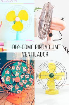 Great easy craft for the home! Fans are pretty ugly but sometimes necessary, so bust out your pretty paper surplus and add some color to a room! Decor Crafts, Fun Crafts, Diy Home Decor, Diy And Crafts, Creation Deco, Ideias Diy, Tinta Spray, Diy Art, Diy Furniture