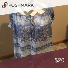 C.J. Banks Tunic Variety of blues on this top. Christopher & Banks Tops Tunics
