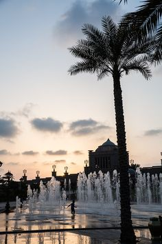 "Emirates Palace is ""total Abu Dhabi opulence,"" says Helou. ""There are two huge pools (one with waterslides for kids, the other with a swim-up bar for adults), a private beach club, a 167-berth marina."" Kids can also splash through the fountains."