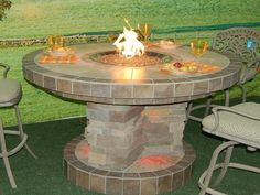 Garden, How To Build Outdoor Propane Carter Fire Pit Things You Should Consider Before Build Propane Fire Pits With The Napkins How To Create Warm Style Outdoor Gas Fire Pits Furniture Out ~ Easiest Ways How To Make A Propane Fire Pit Is Just A Click Away