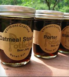 Beer Jelly 3-Pack: Oatmeal Stout, Porter & Hard Apple Cider