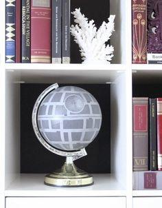 …Or a Death Star globe.   21 Wonderfully Geeky Ways To Create The Perfect Star Wars Nursery