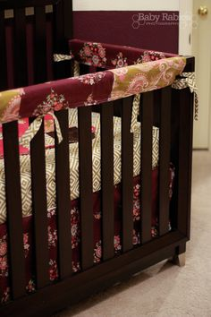 Lots of tutoruials on DIY crib bedding & nursery decor! I've decided this will be much cheaper than store bought AND I can pick the fabric! Hoping I can pull this off using the bumper pad Girl Nursery, Nursery Decor, Nursery Ideas, Nursery Inspiration, My Baby Girl, Baby Love, Crib Rail Cover, Diy Crib, Ideas