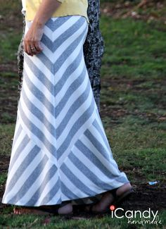 icandy handmade: (mini-tut and pattern) Mismatched Maxi Skirt