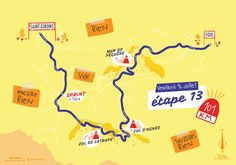 La treizième étape du Tour de France par deux degrés et Mélanie Béguier Saint, Map, Location Map, Maps
