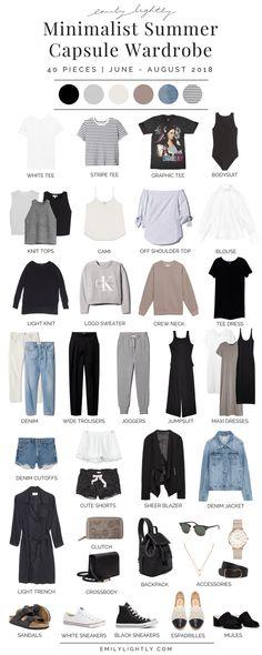 My Summer 2018 Capsule Wardrobe - Emily Lightly // minimalist style, slow fashion, minimalism, simple living, simple style