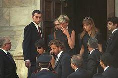 Diana at Gianni Versace's funeral