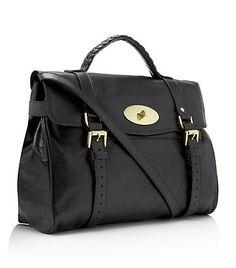 mulberry oversized black alexia bag