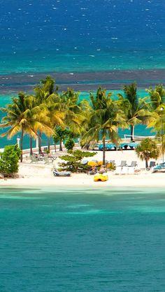 Beautiful tropical beach resort in Ocho Rios, Jamaica