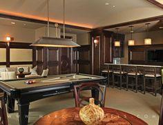 Clubhouse game room, bar, pool table, TAVIRA, NAPLES, FL