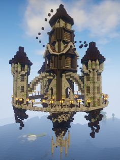 Built this inspired by this awesome image I found (look at first comment) Anything I can add? : Minecraft