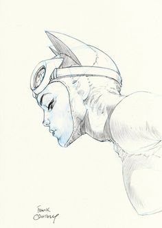 Catwoman by Frank Quitely. I like this sketch of Catwoman Catwoman Comic, Catwoman Cosplay, Batman And Catwoman, Batman Art, Batman Robin, Gotham Batman, Batgirl, Comic Book Artists, Comic Book Characters