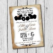 Biker Wedding Invitation, Motorcycle, Road to Adventure - $7.50 #BikerWedding #MotorcycleWedding #WeddingInvitation