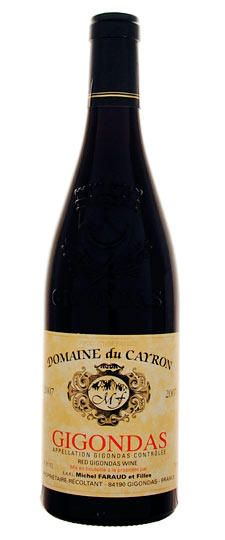Top #wine selection Domaine du Cayron, Gren/Cinsault/Syrah/Mour, Gigondas, S.Rhone, France...Follow us on Twitter @TopWinePics