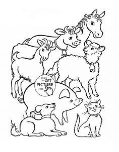 Farm Animal Coloring Pages Pre K Pinterest Farming and Busy kids